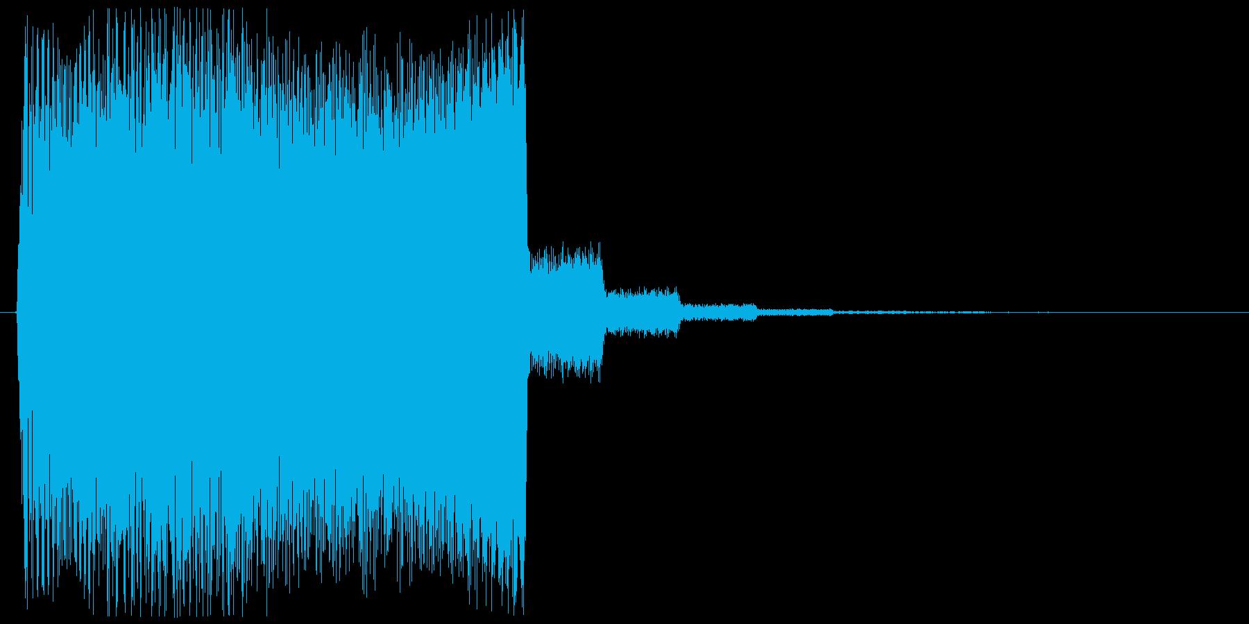 ぐーん!と上がるメーター上昇音2の再生済みの波形
