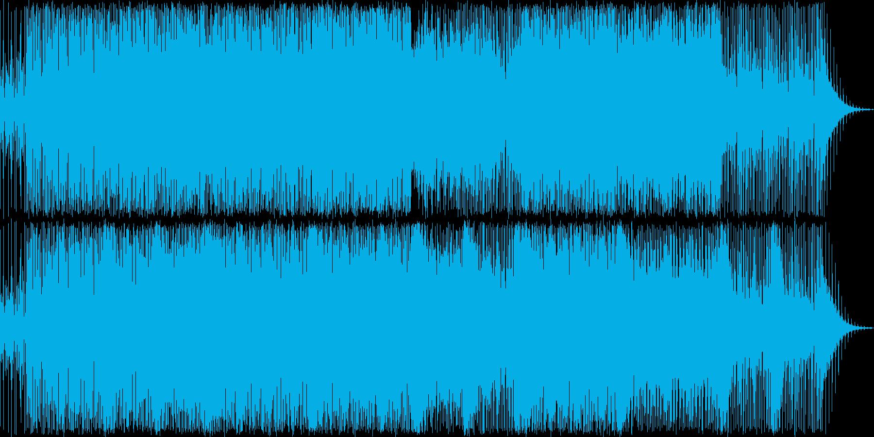 疾走感のある切ない感じの曲の再生済みの波形