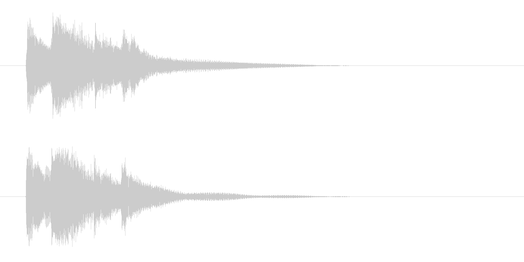 和をイメージした琴の効果音の未再生の波形