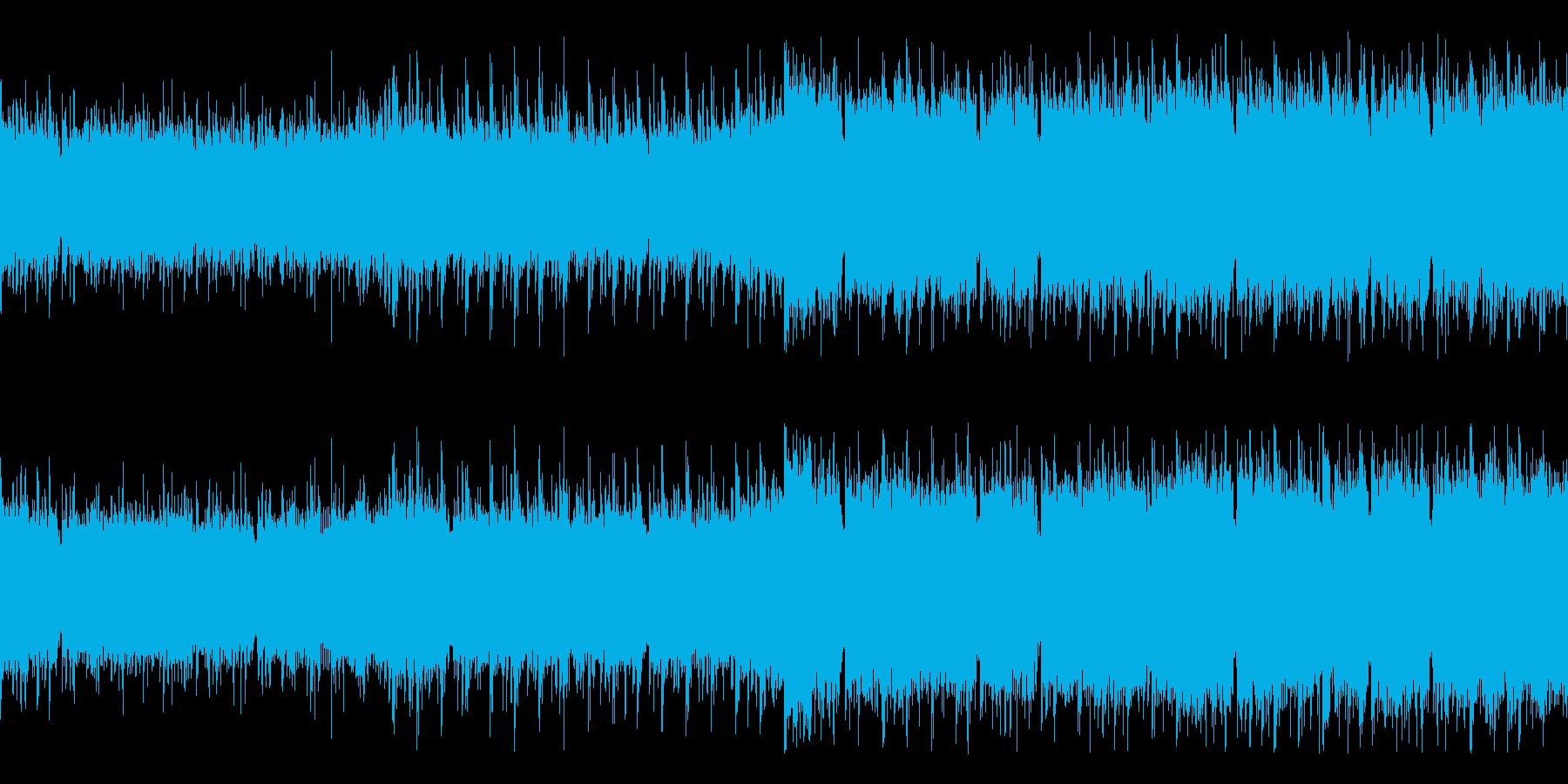 ゲームのOP感のある勇壮なチップチューンの再生済みの波形