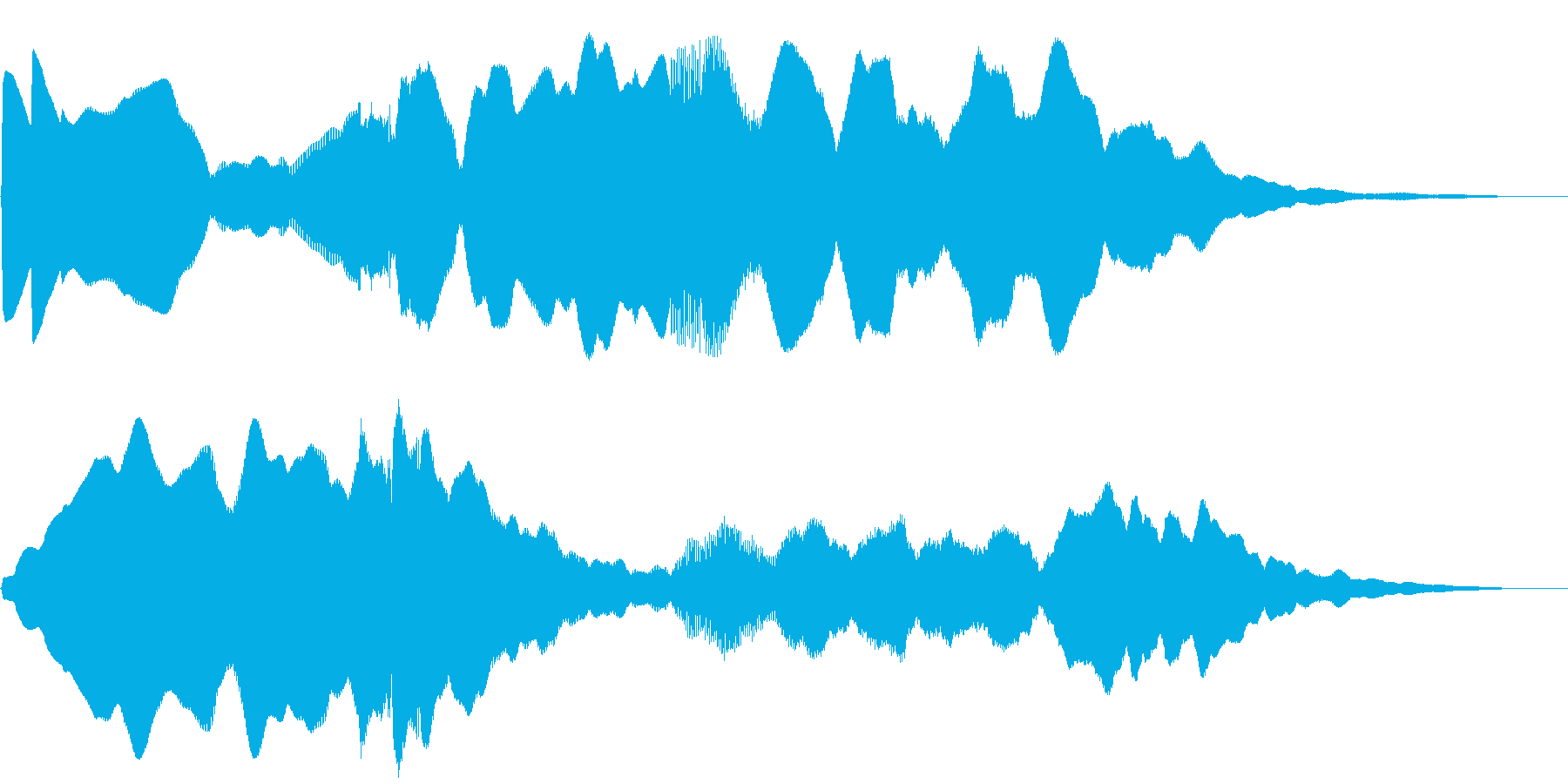5秒CM、セール、イベント告知、場面転換の再生済みの波形