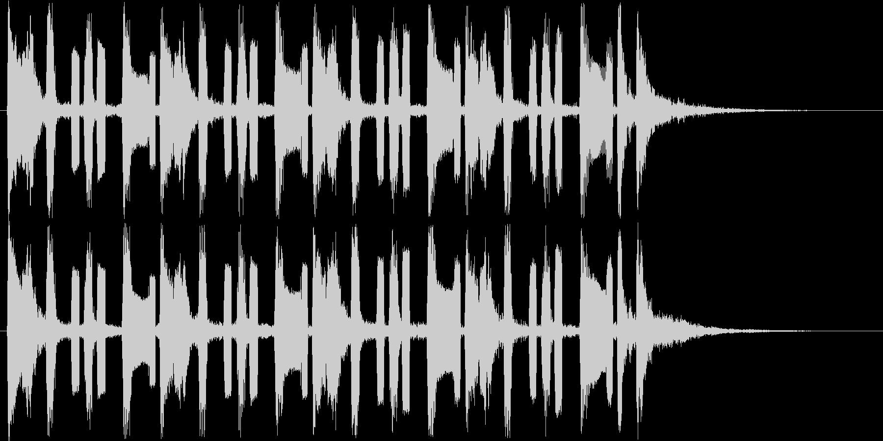 コミカルな音で様子を表す曲の未再生の波形