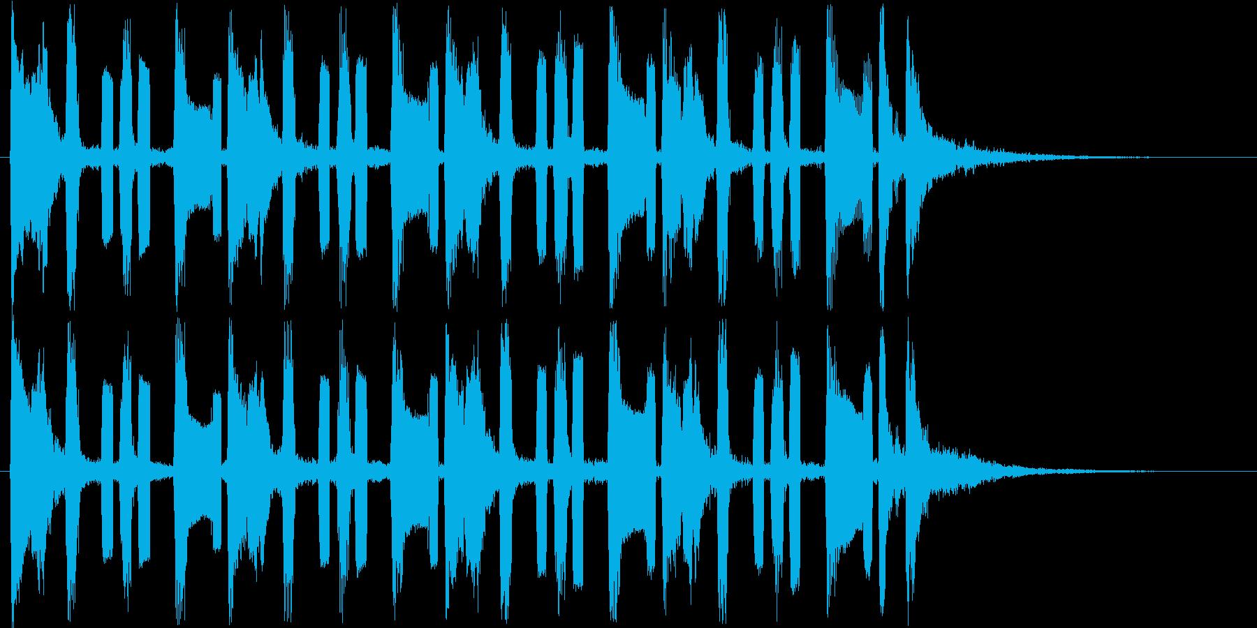 コミカルな音で様子を表す曲の再生済みの波形