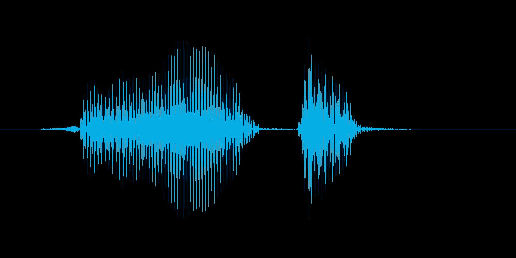 フェイントの再生済みの波形