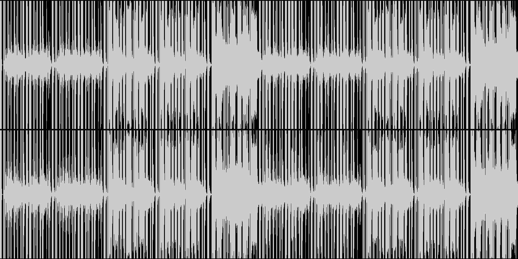 ドット系ゲームに最適な8bitBGMの未再生の波形