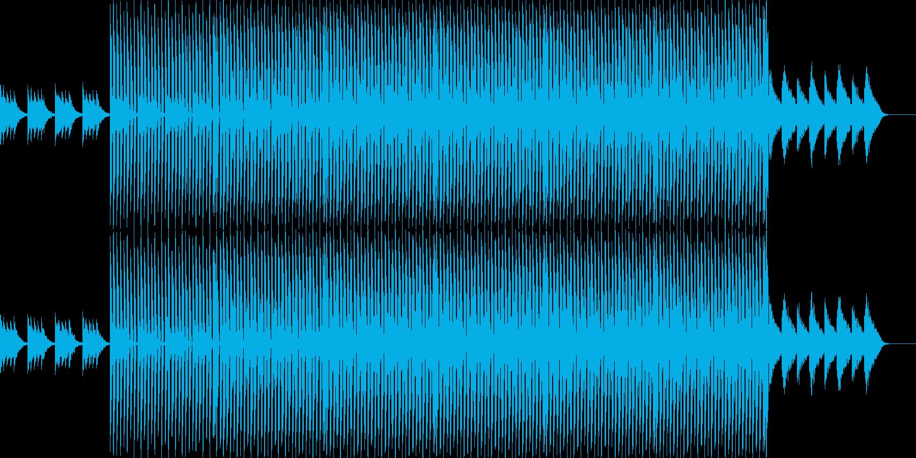明るく明快なテクノの再生済みの波形