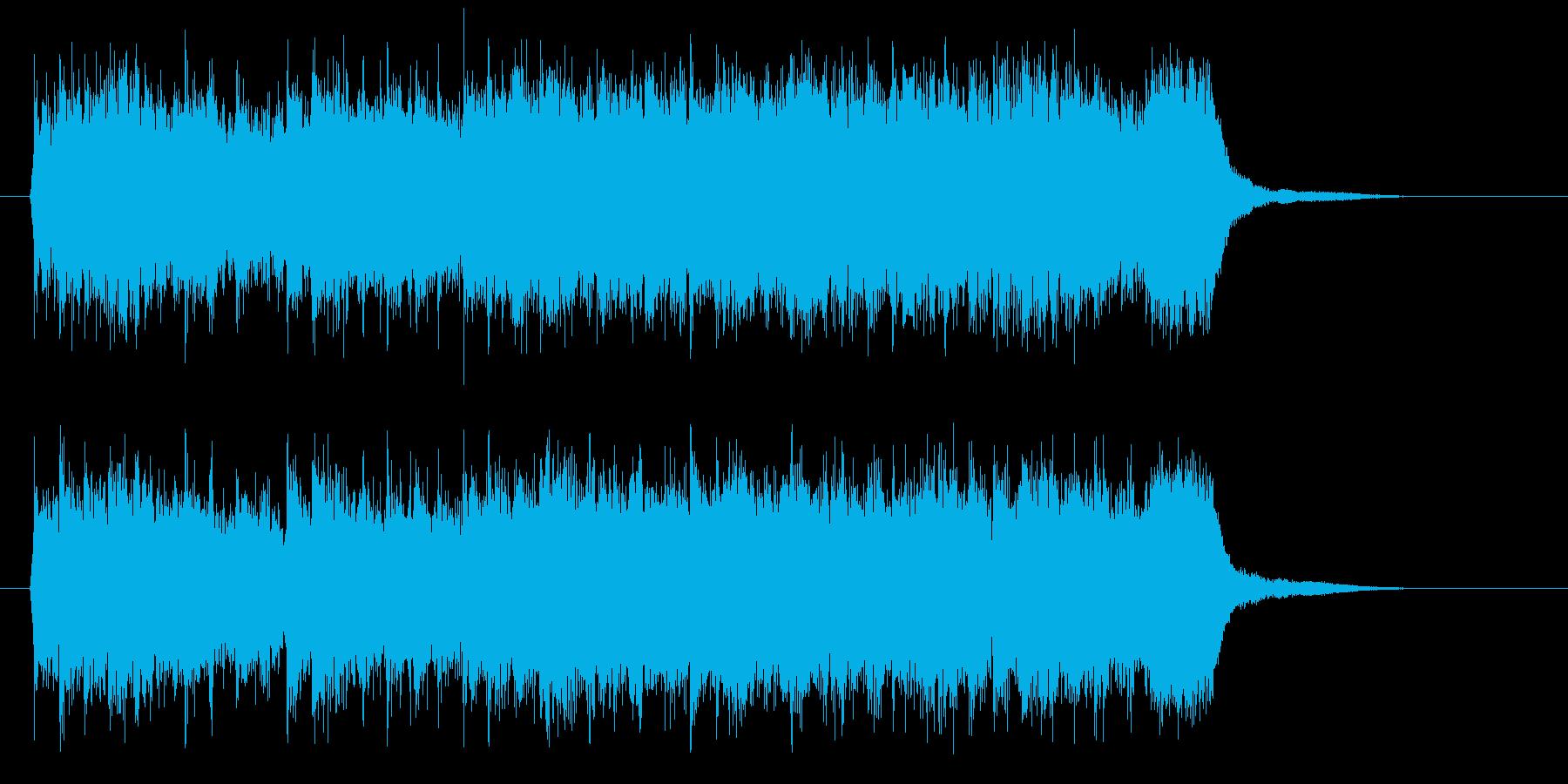 ホーンが雄大なミディアムテンポのシンセ曲の再生済みの波形