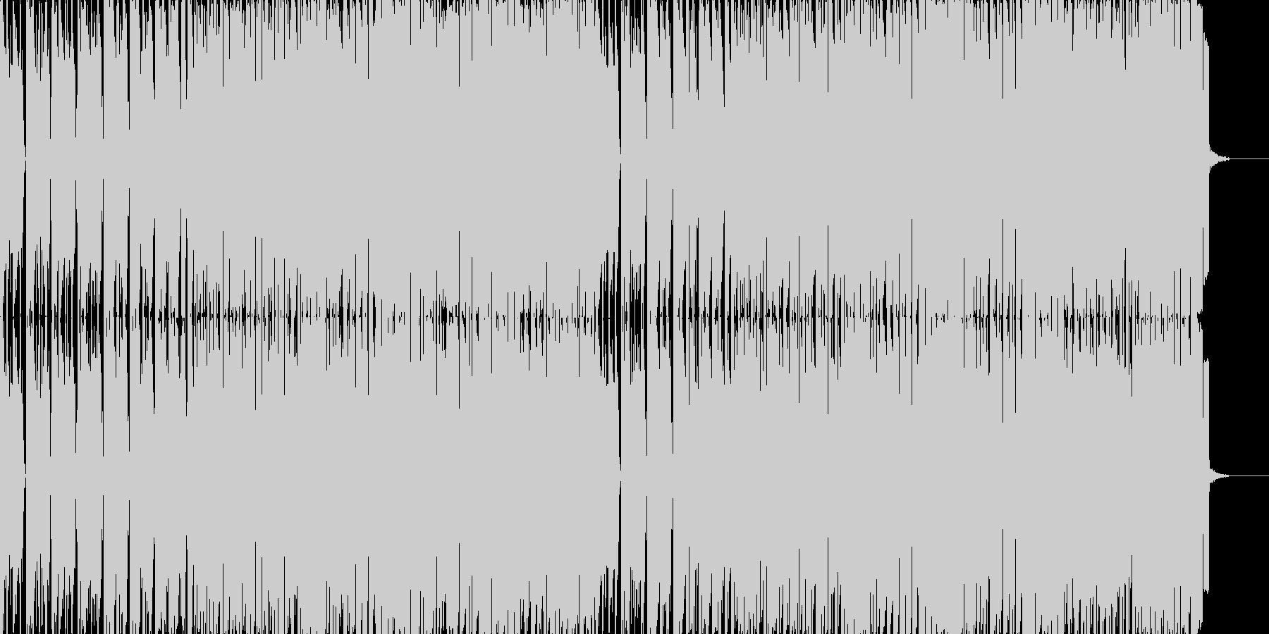 「威風堂々」テクノポップリミックスの未再生の波形