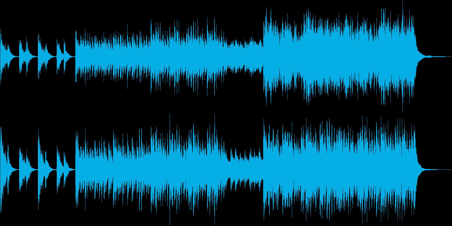 春のクリエイティブなCM向け管弦弦楽曲の再生済みの波形
