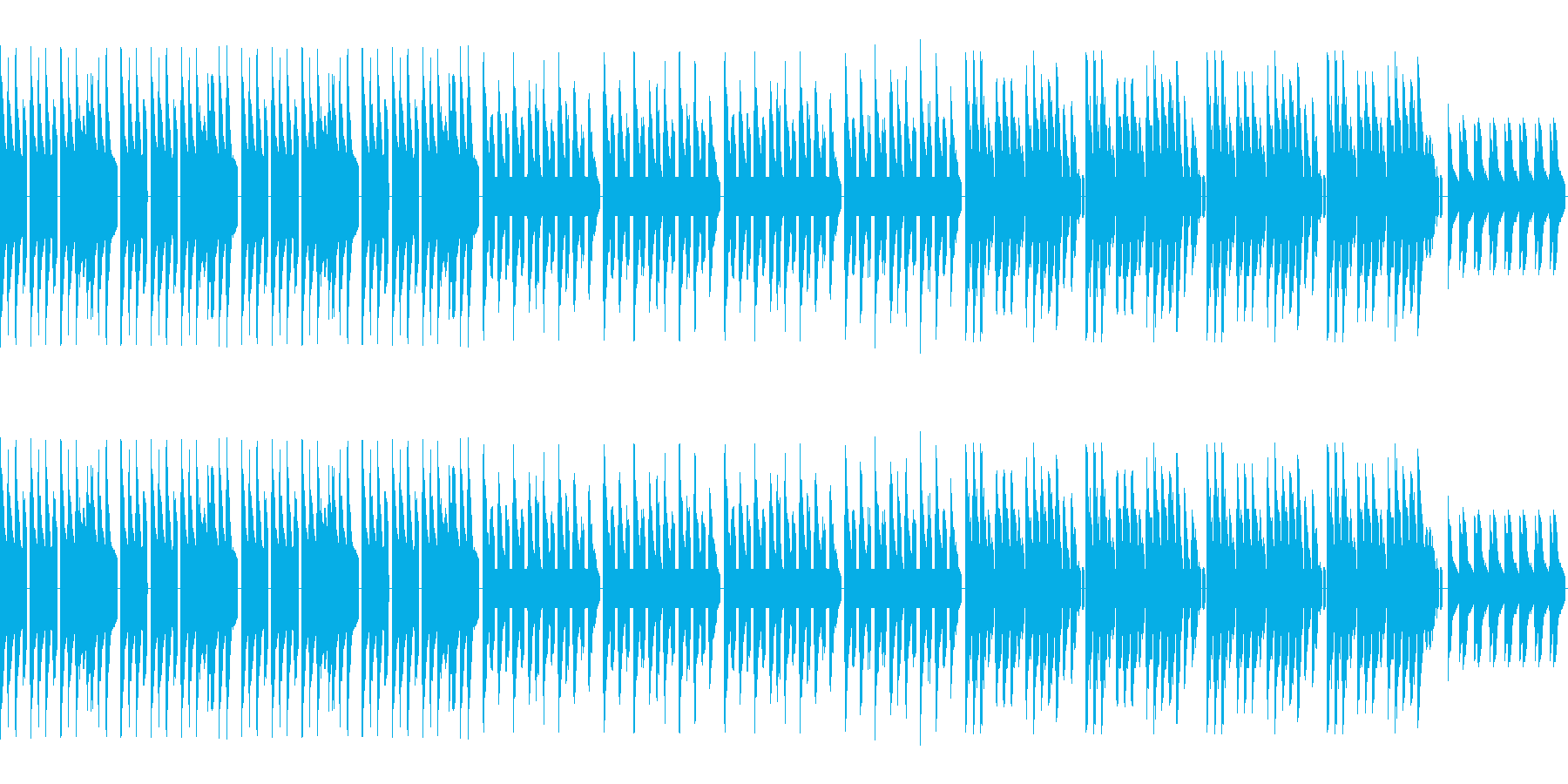 ダンディ、クールなレトロゲーム風バラードの再生済みの波形