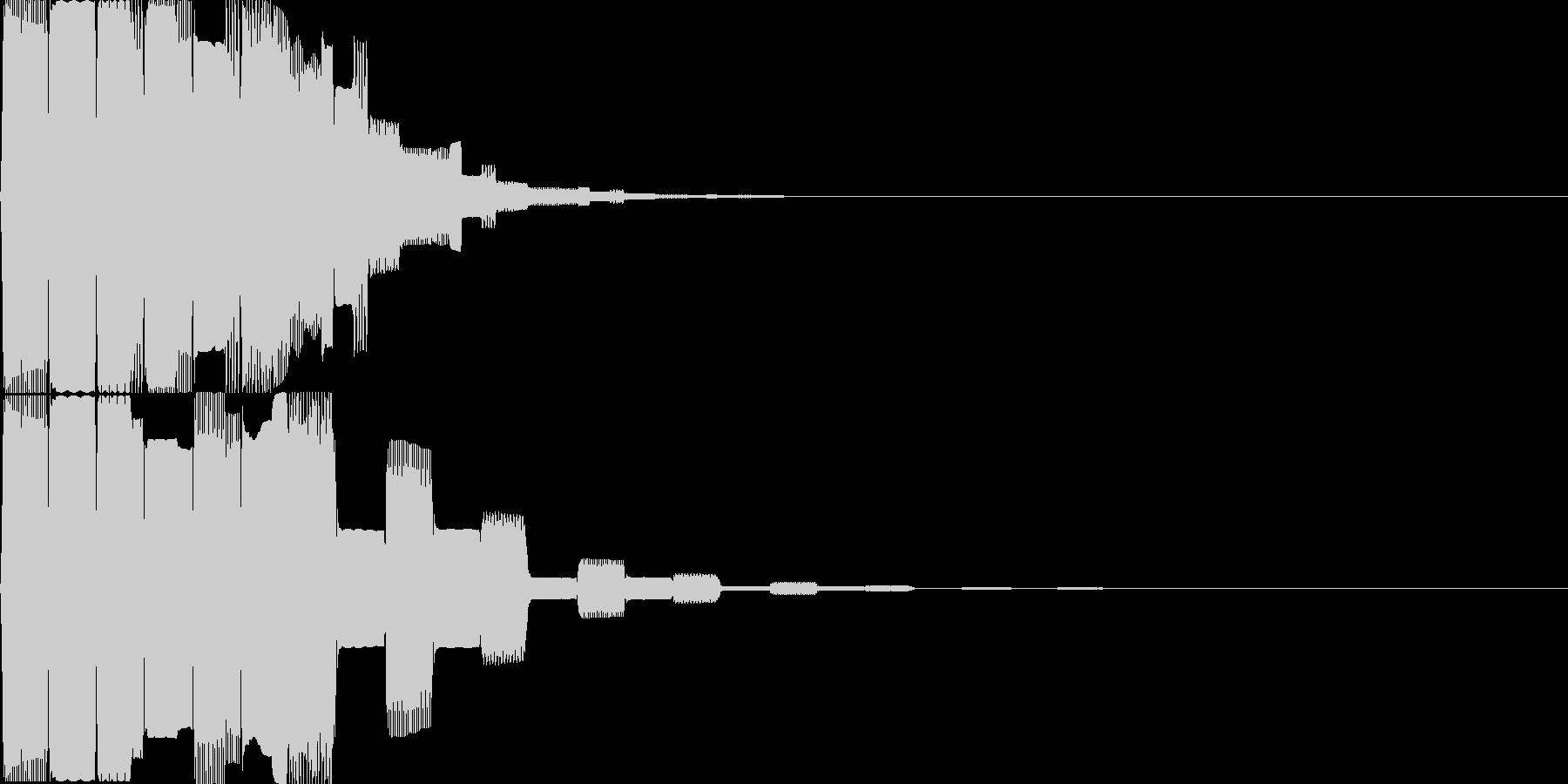 汎用決定ボタン - 6の未再生の波形