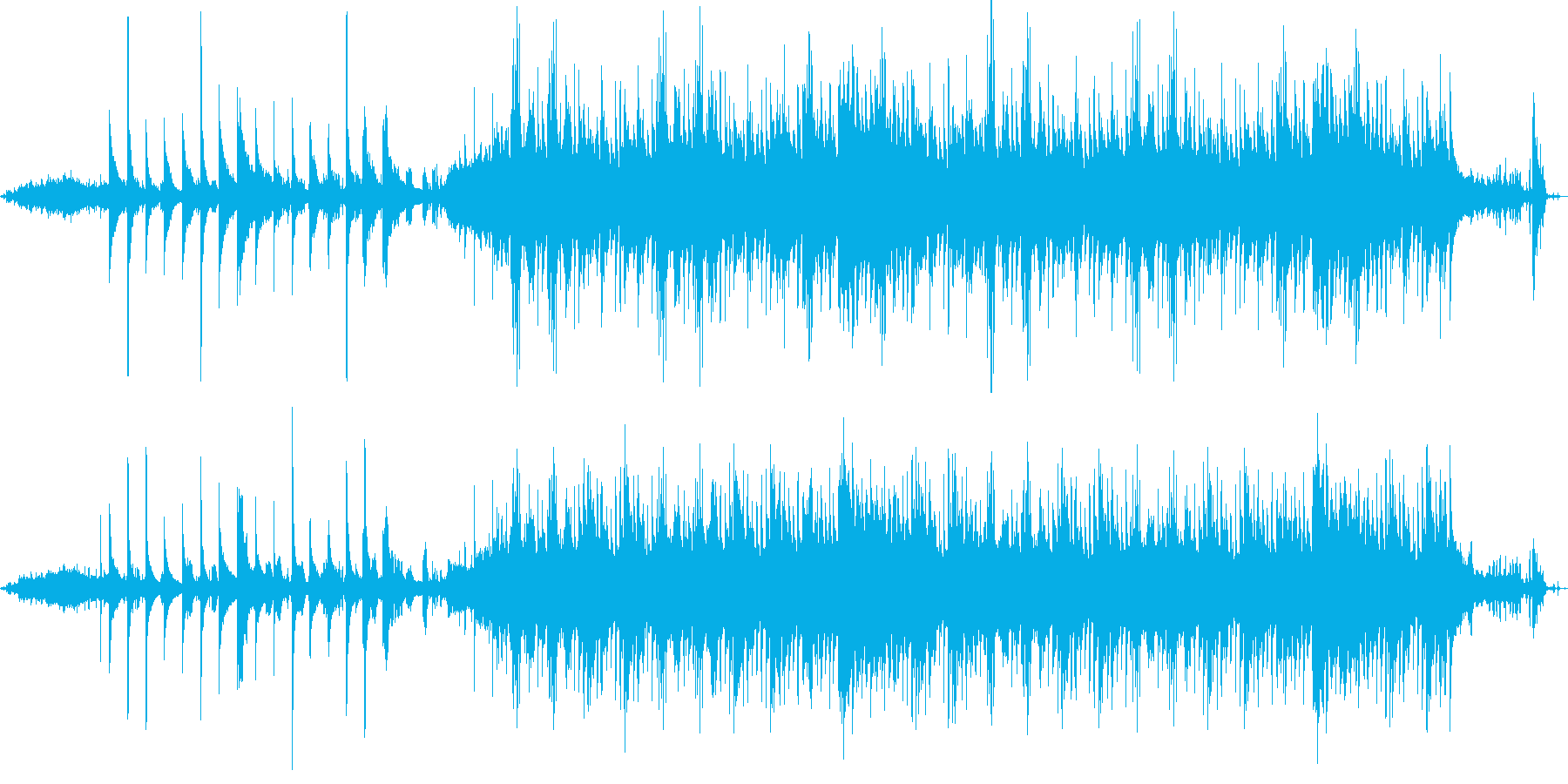 野鳥がさえずる深緑ヒーリングミュージックの再生済みの波形