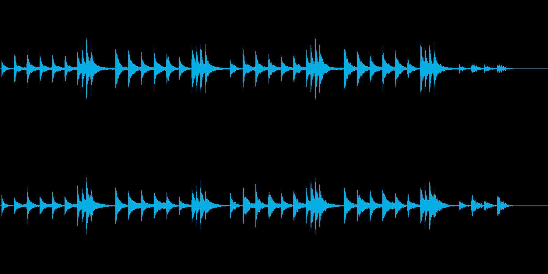 静寂なイメージピアノ曲の再生済みの波形