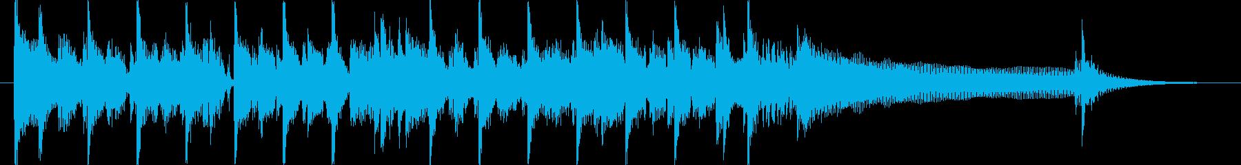 明るく軽快なロックトラックロゴの再生済みの波形