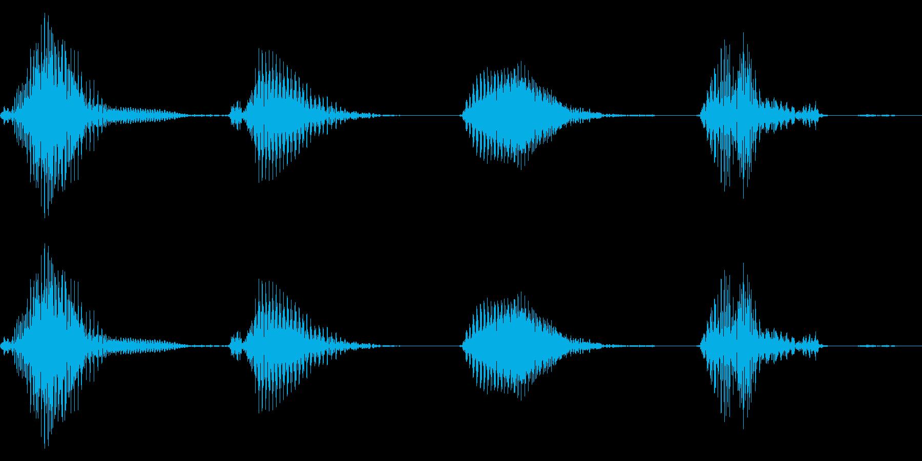 1,2,3,4の再生済みの波形