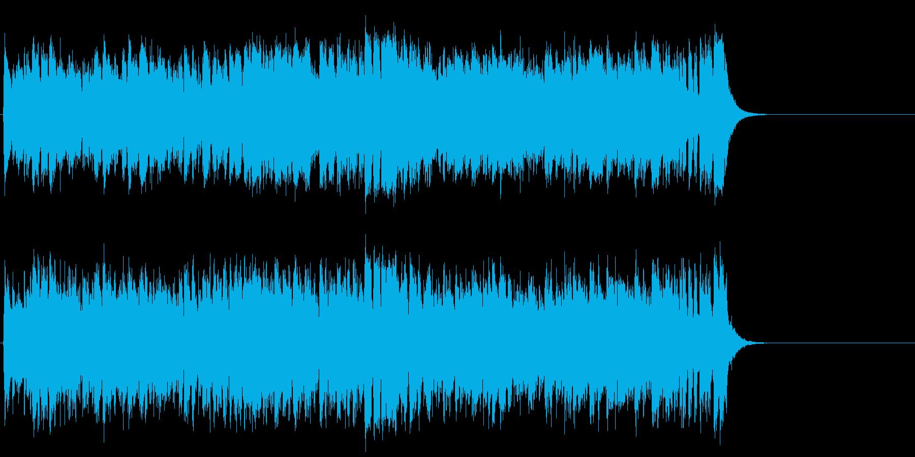 リゾート風の軽快なポップ(サビ~エンド)の再生済みの波形