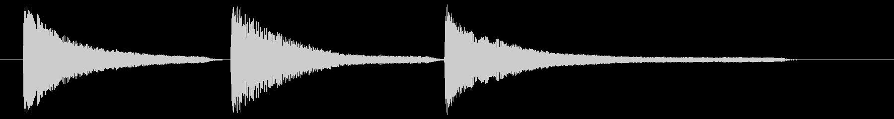 ピアノ おじぎの未再生の波形