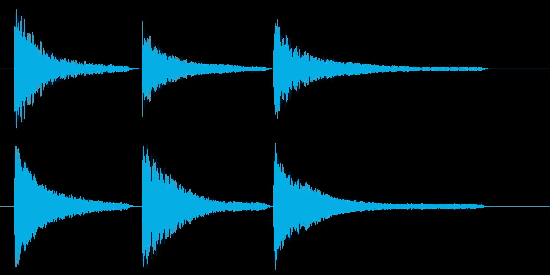 ピアノ おじぎの再生済みの波形