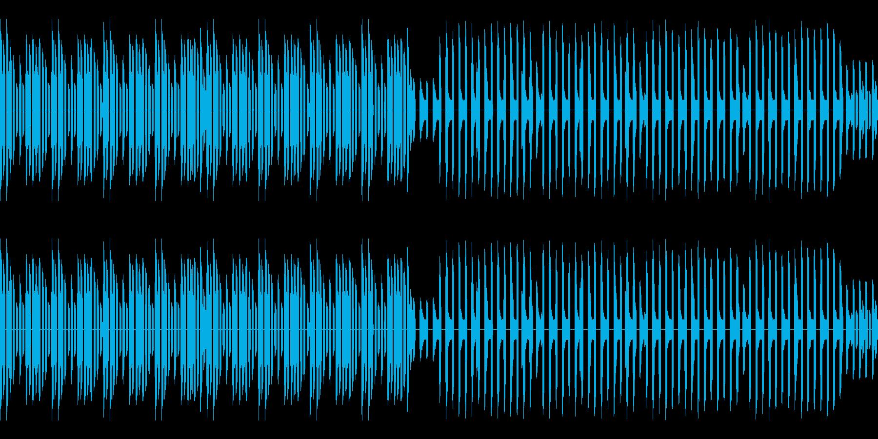 熱血ヒーロー的なレトロゲーム風サビが前の再生済みの波形