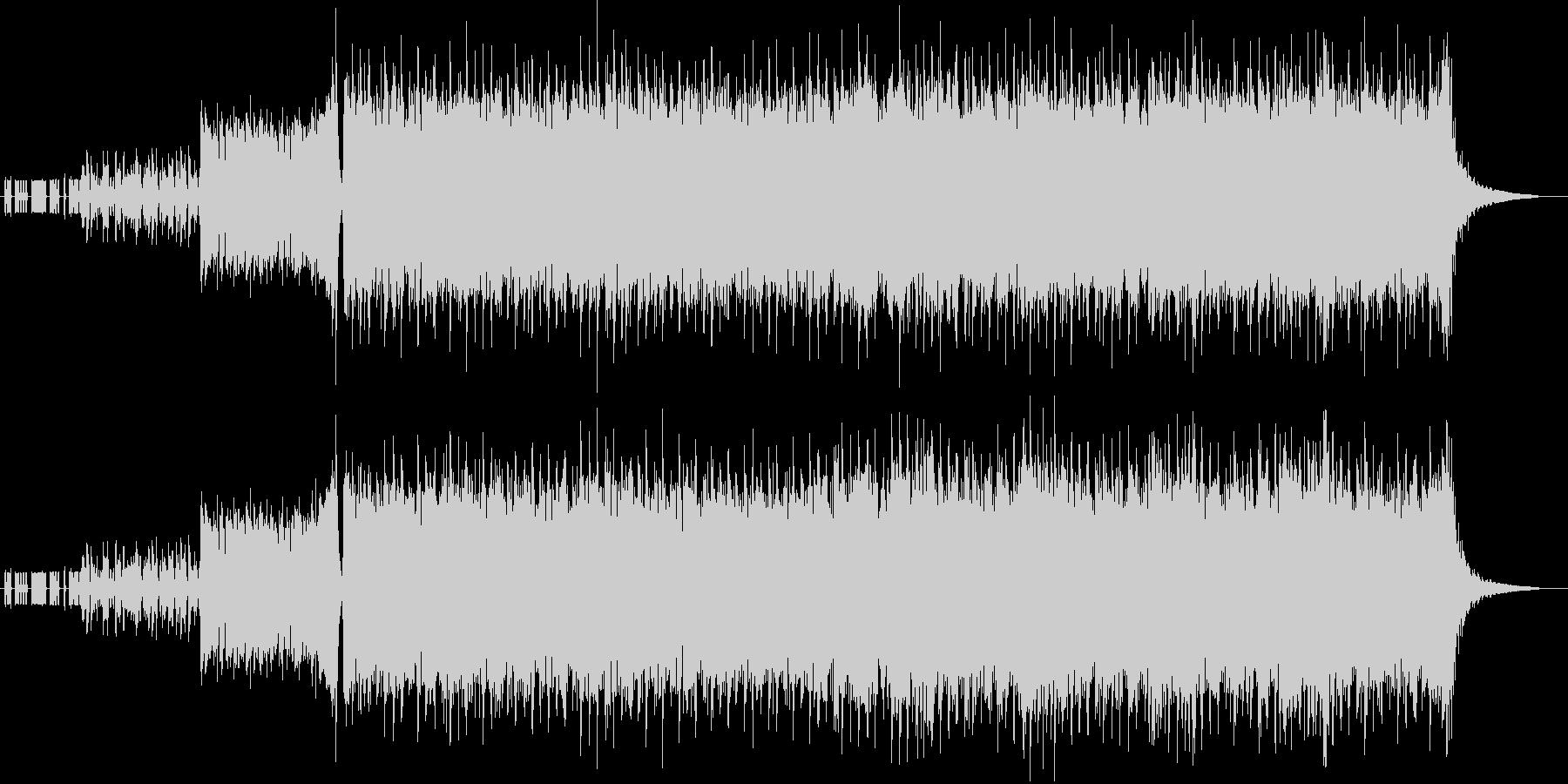 疾走感のあるD&Bとロックギターの未再生の波形