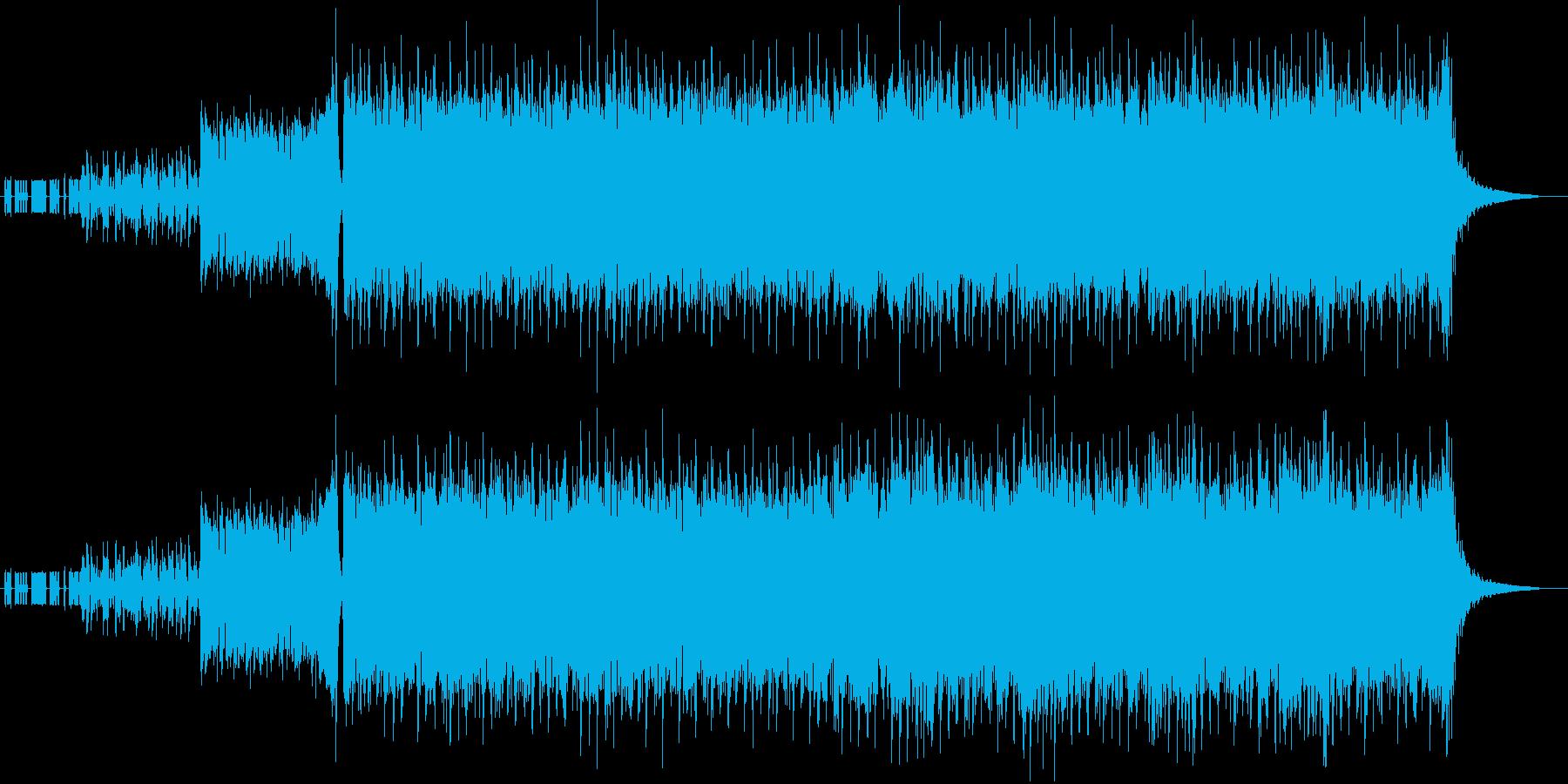 疾走感のあるD&Bとロックギターの再生済みの波形