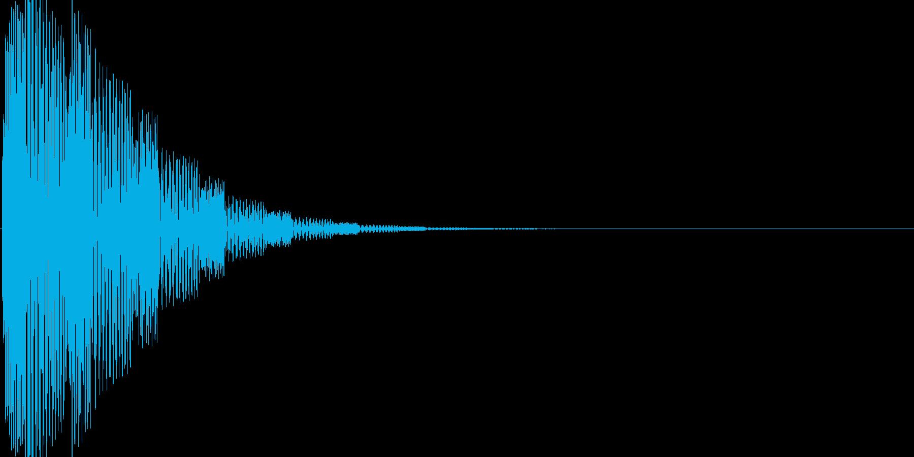 ぽよーん2 何かが弾む音 モノラルの再生済みの波形