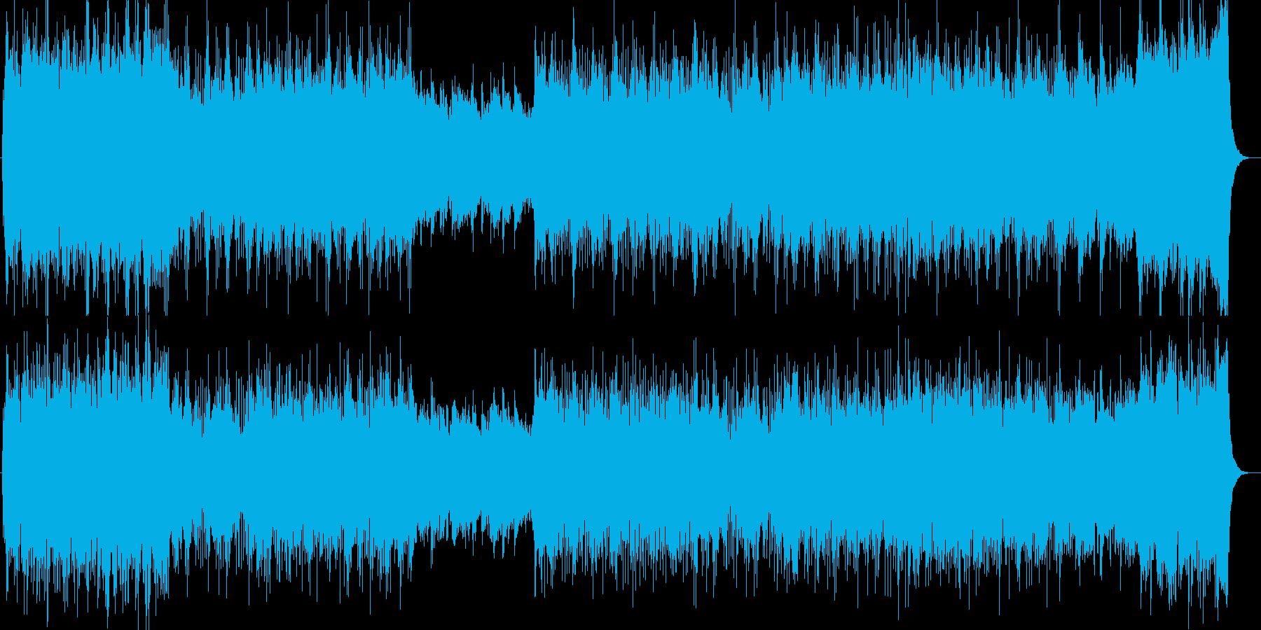 勢いと雄大さが印象シンセサイザーサウンドの再生済みの波形