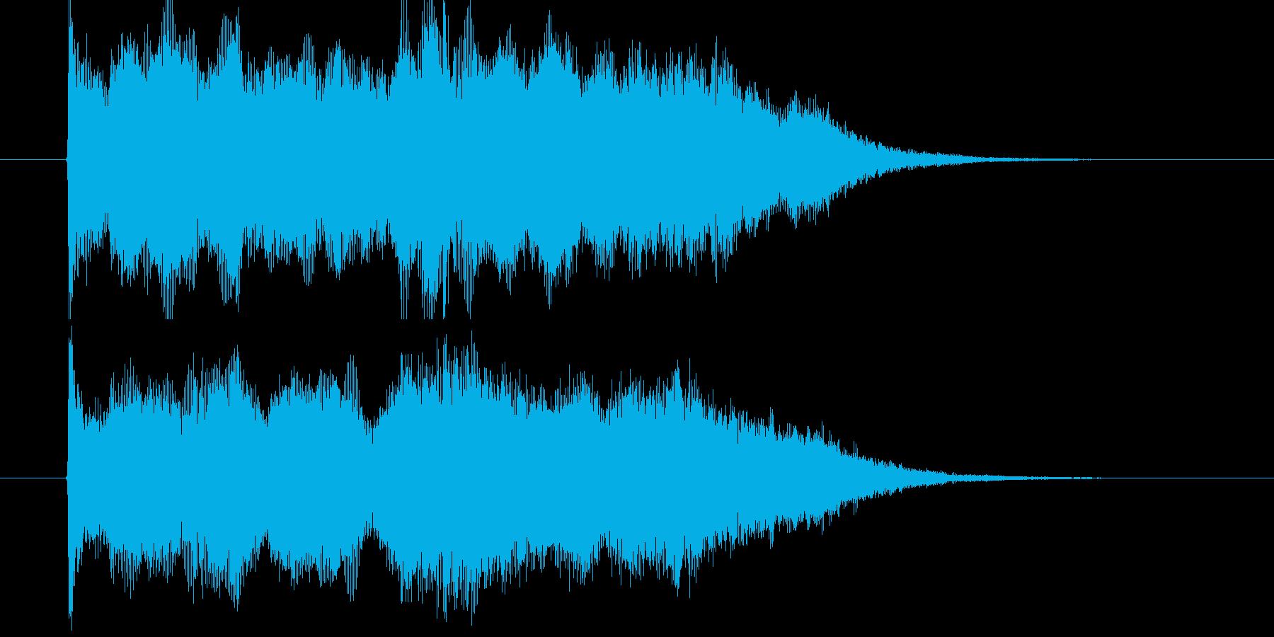 感動的なストリングポップスのジングル曲の再生済みの波形
