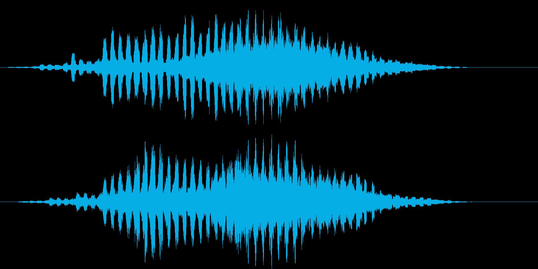 コズミック・キラキラ音の再生済みの波形