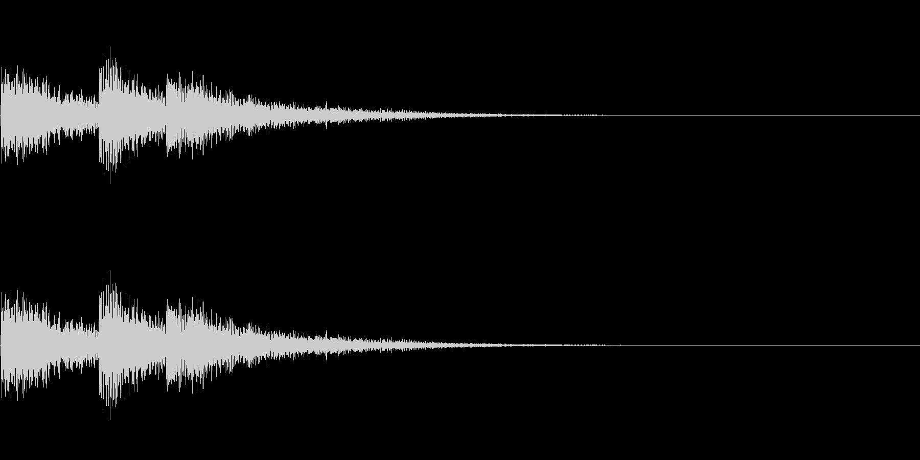 FX・SE/レーザー/3連射/発射/3の未再生の波形