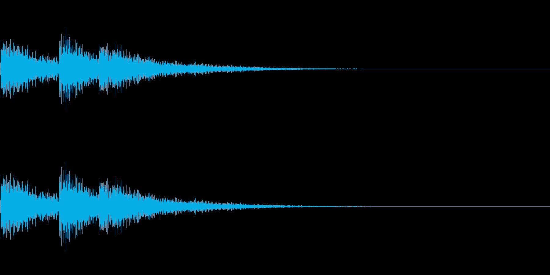 FX・SE/レーザー/3連射/発射/3の再生済みの波形