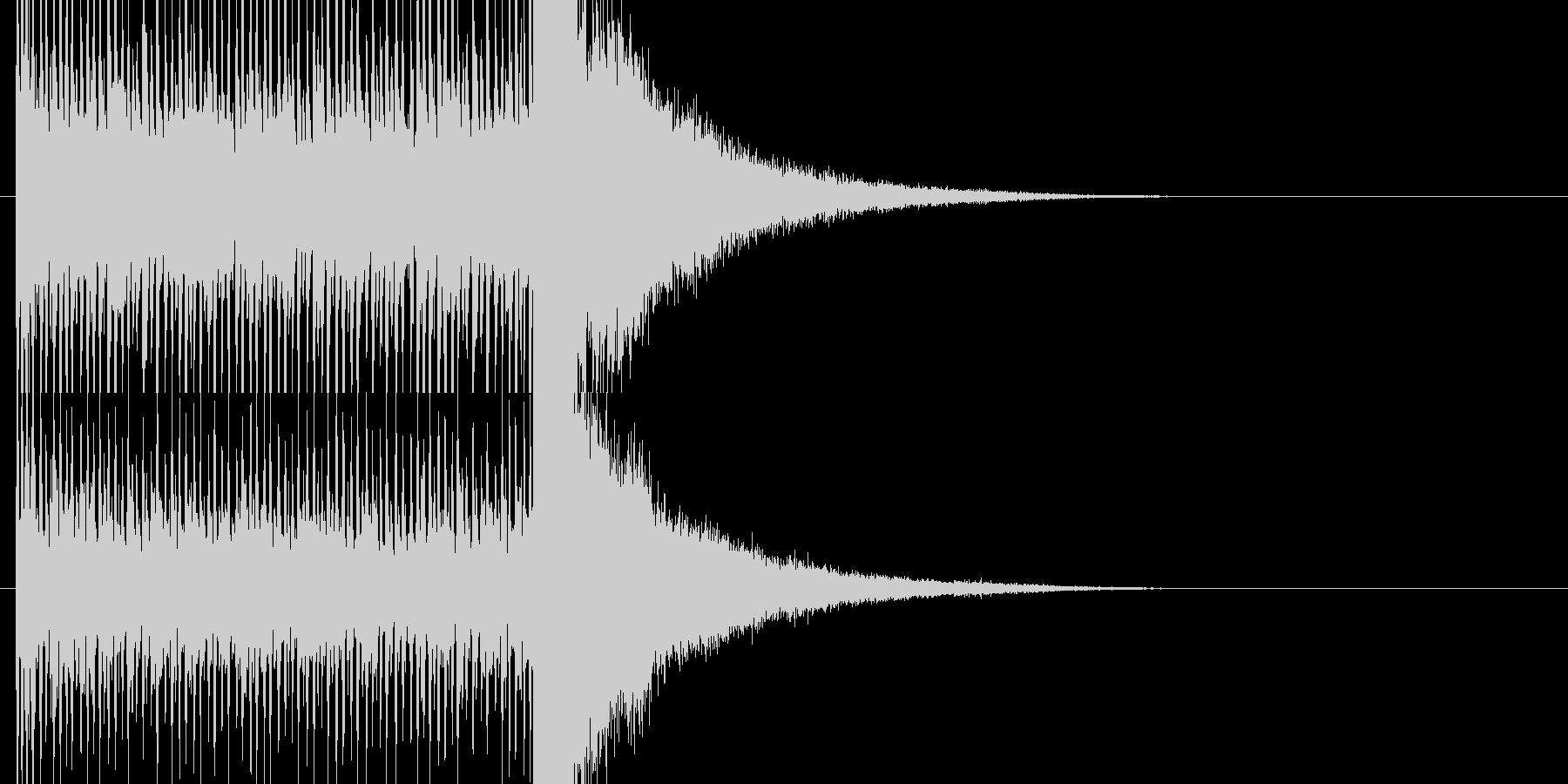 結果発表前の盛り上がるドラムロールの未再生の波形