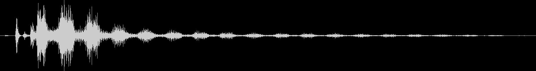 【エレキギター】クリーンストローク音の未再生の波形