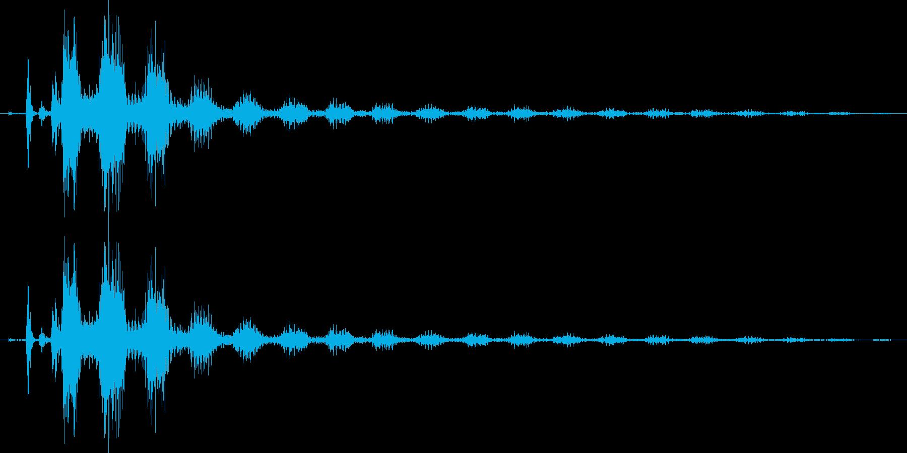 【エレキギター】クリーンストローク音の再生済みの波形