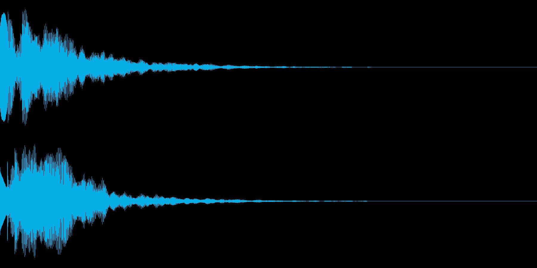 注目、エンター、テロップの再生済みの波形