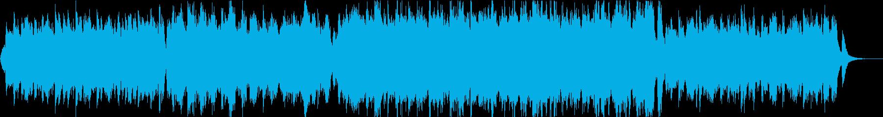 知られざる挑戦者を讃える行進曲風テーマ曲の再生済みの波形