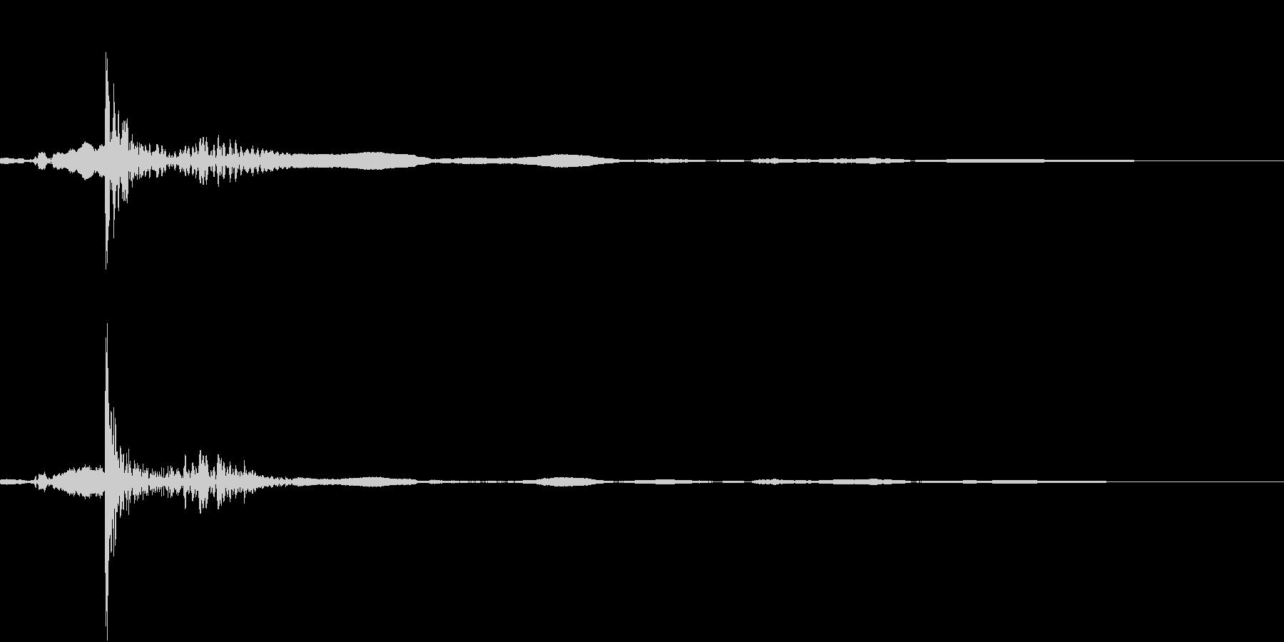 きゅうすのふたを開けるの未再生の波形