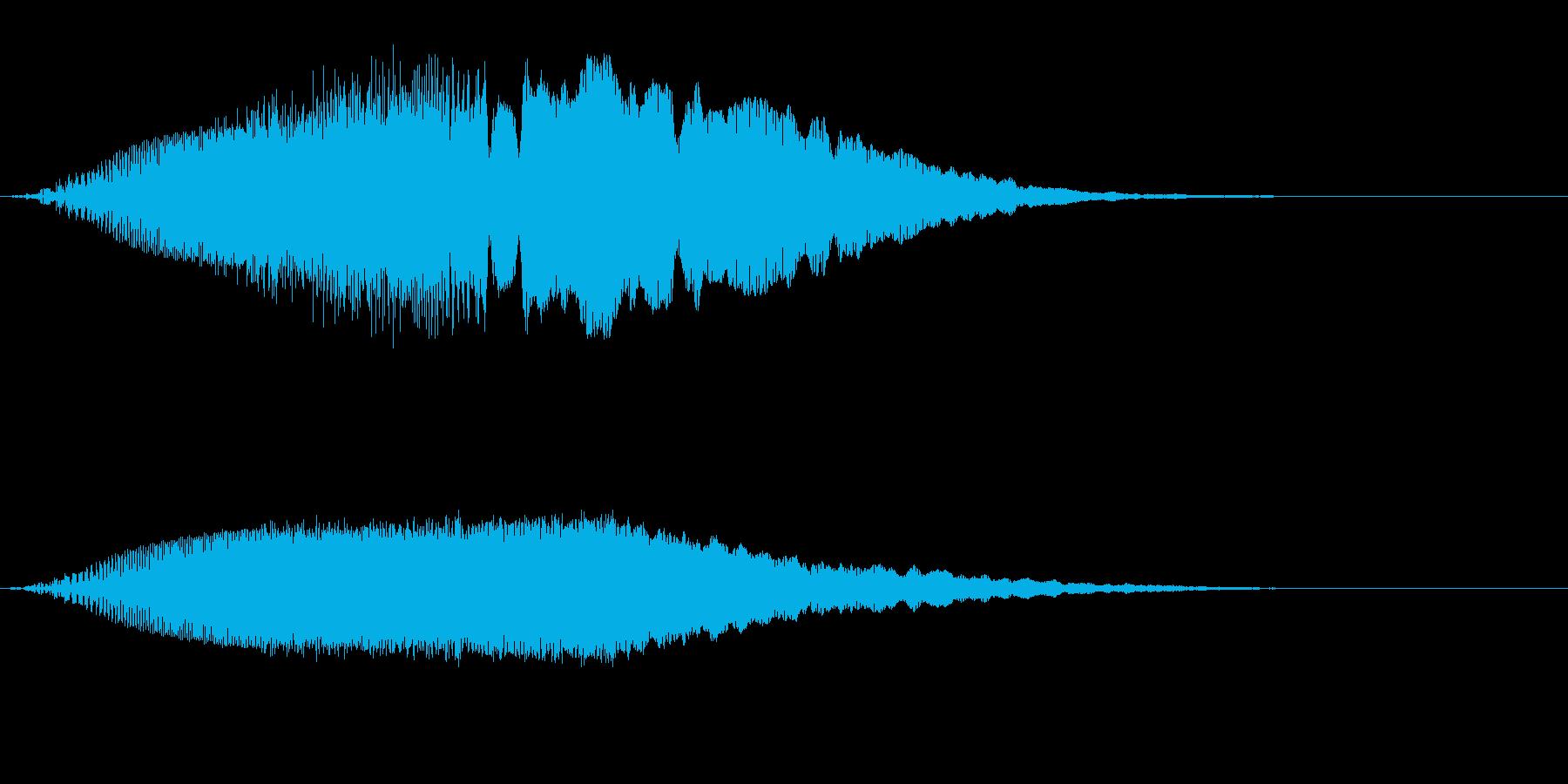上昇していく効果音、レーザー音 低めの再生済みの波形