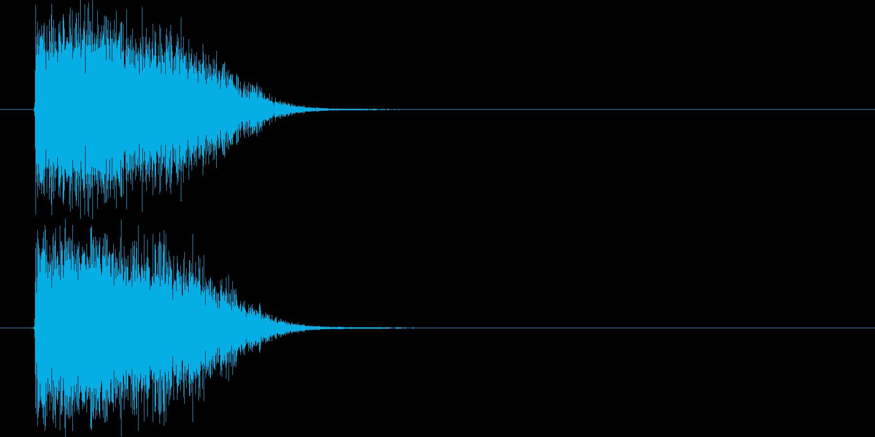 シンセのインパクト音の再生済みの波形
