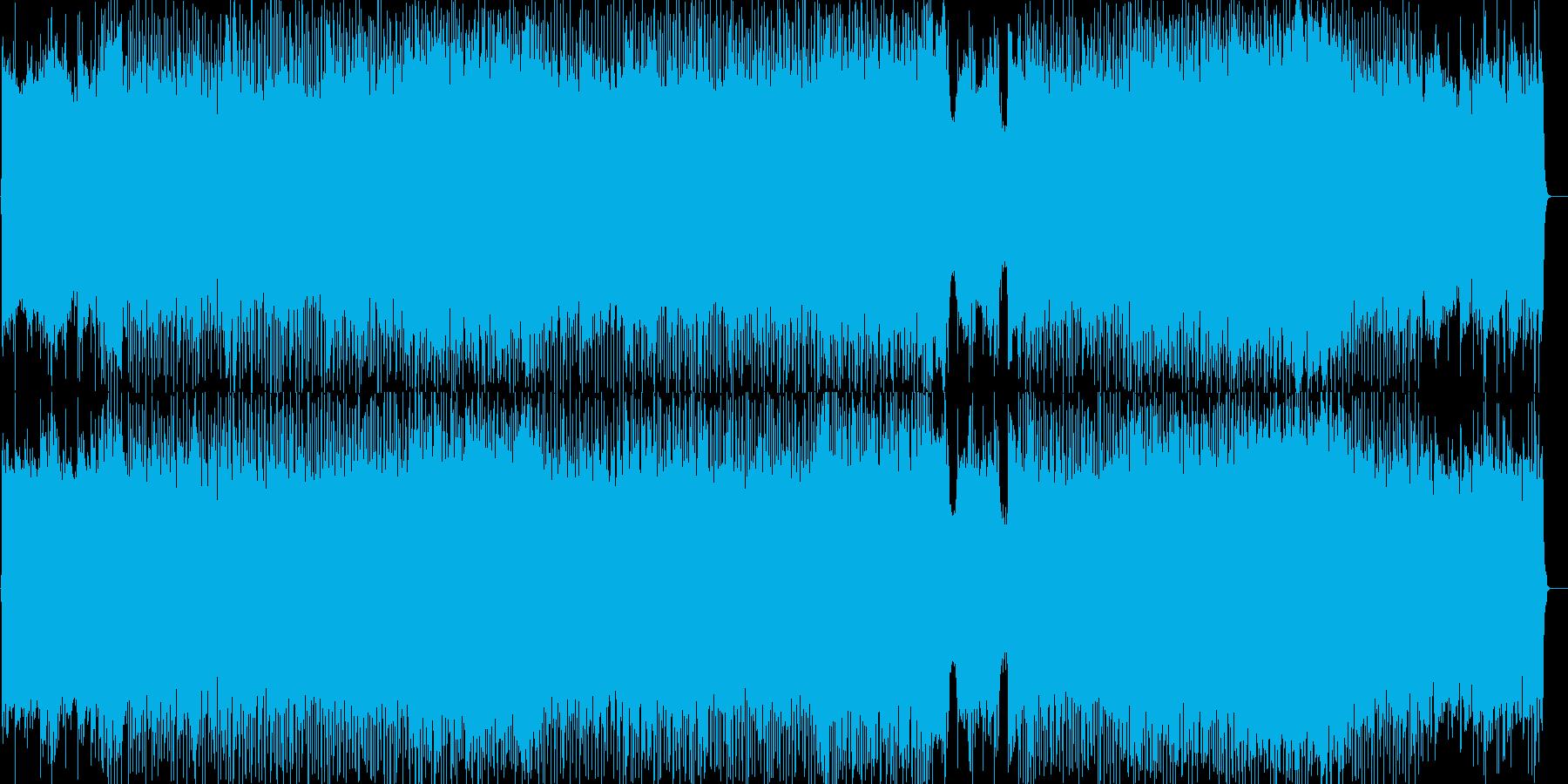 スピード感のあるバトル向けロックの再生済みの波形