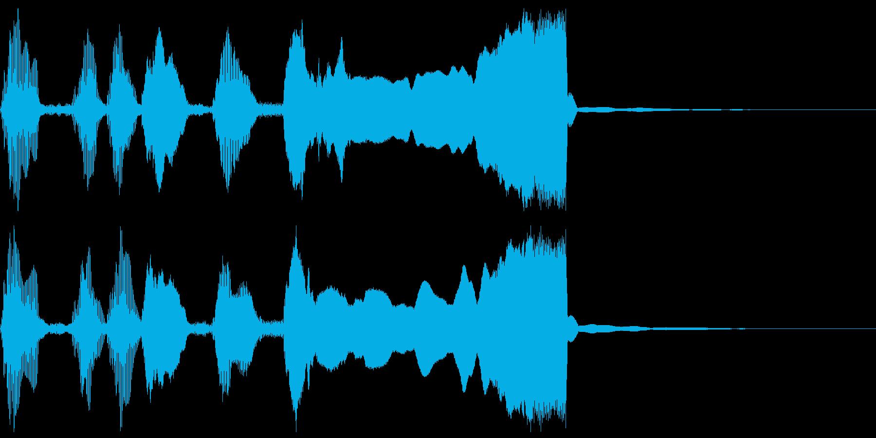 シンプルなファンファーレ1の再生済みの波形