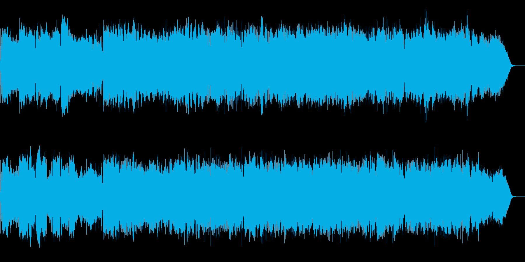 明るいバンドサウンドインスト曲の再生済みの波形