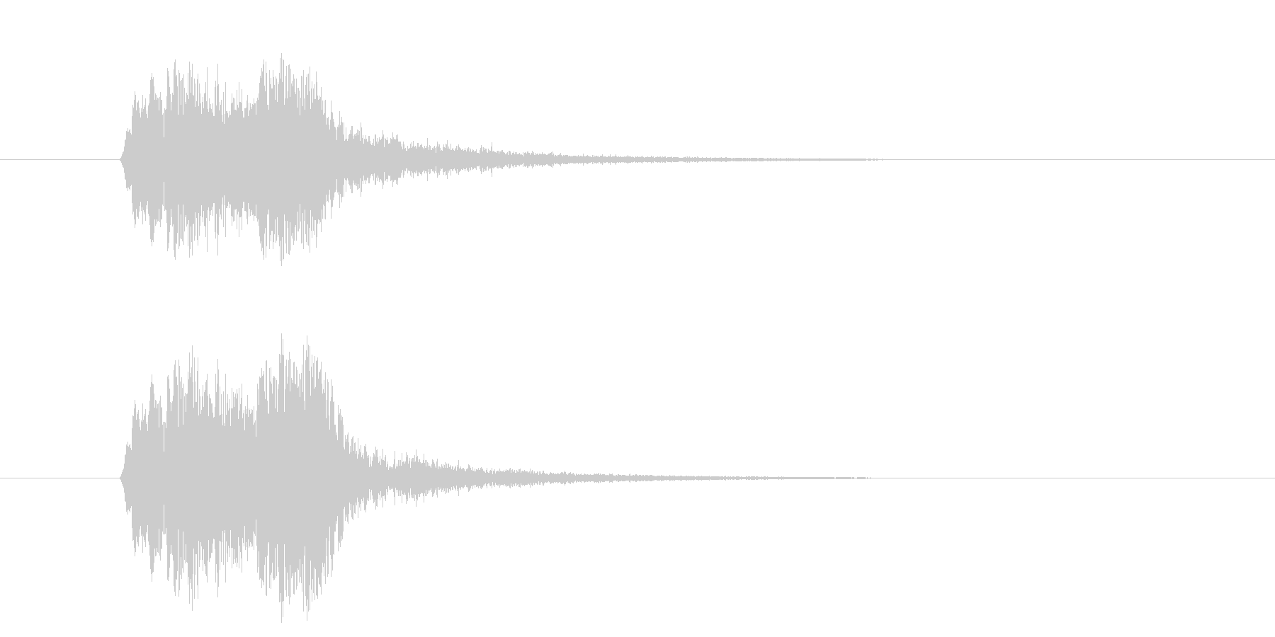 ヒュンヒュン(お知らせ、合図)の未再生の波形