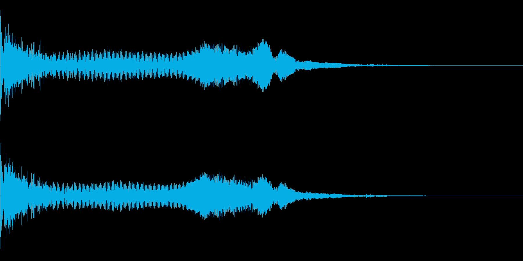 重い金属系 タイトルロゴ、アイキャッチ音の再生済みの波形