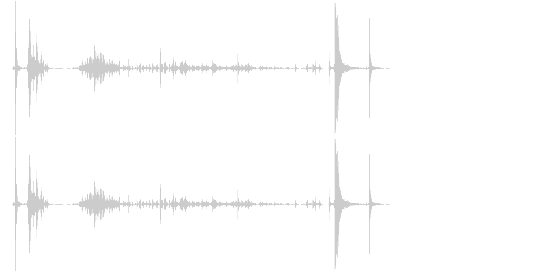缶詰を開ける音の未再生の波形