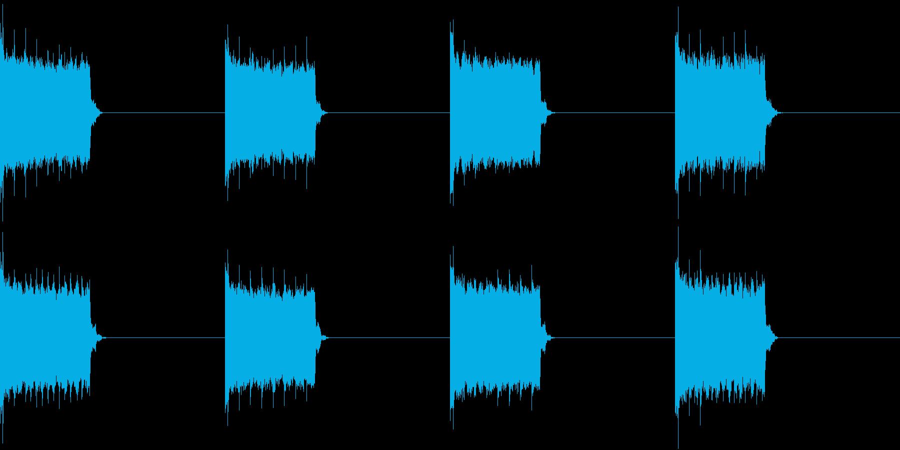 電話 着信音 スマホ 電子音の再生済みの波形