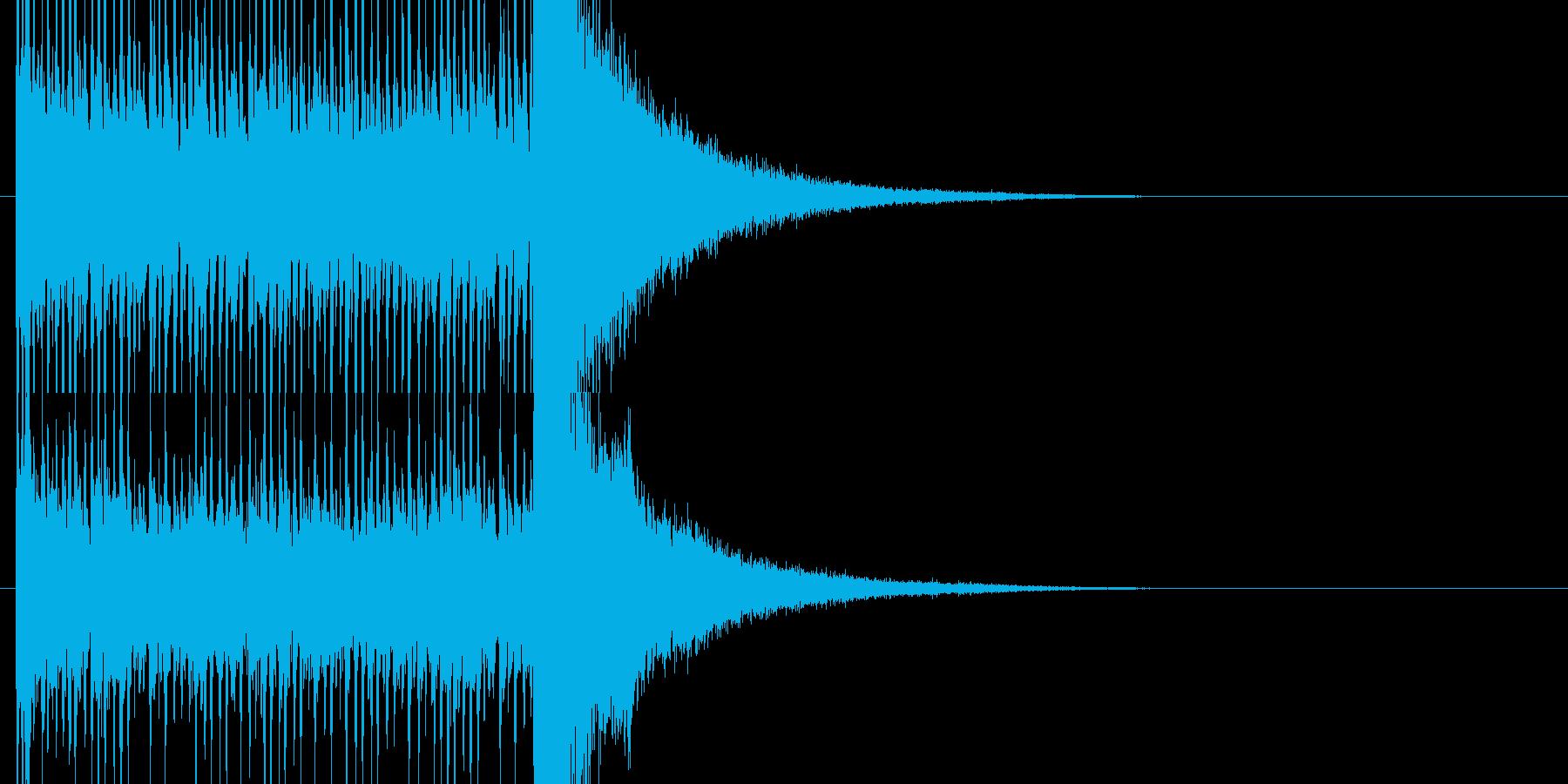 結果発表前のドラムロールの再生済みの波形