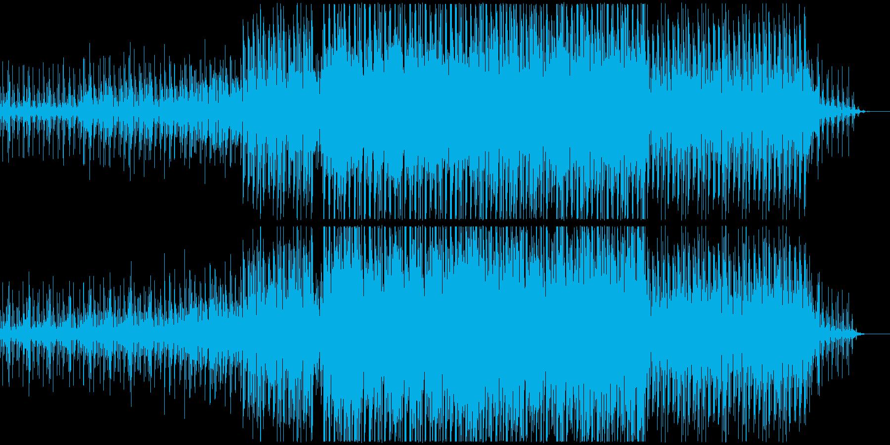 浮遊感のあるポップスの再生済みの波形