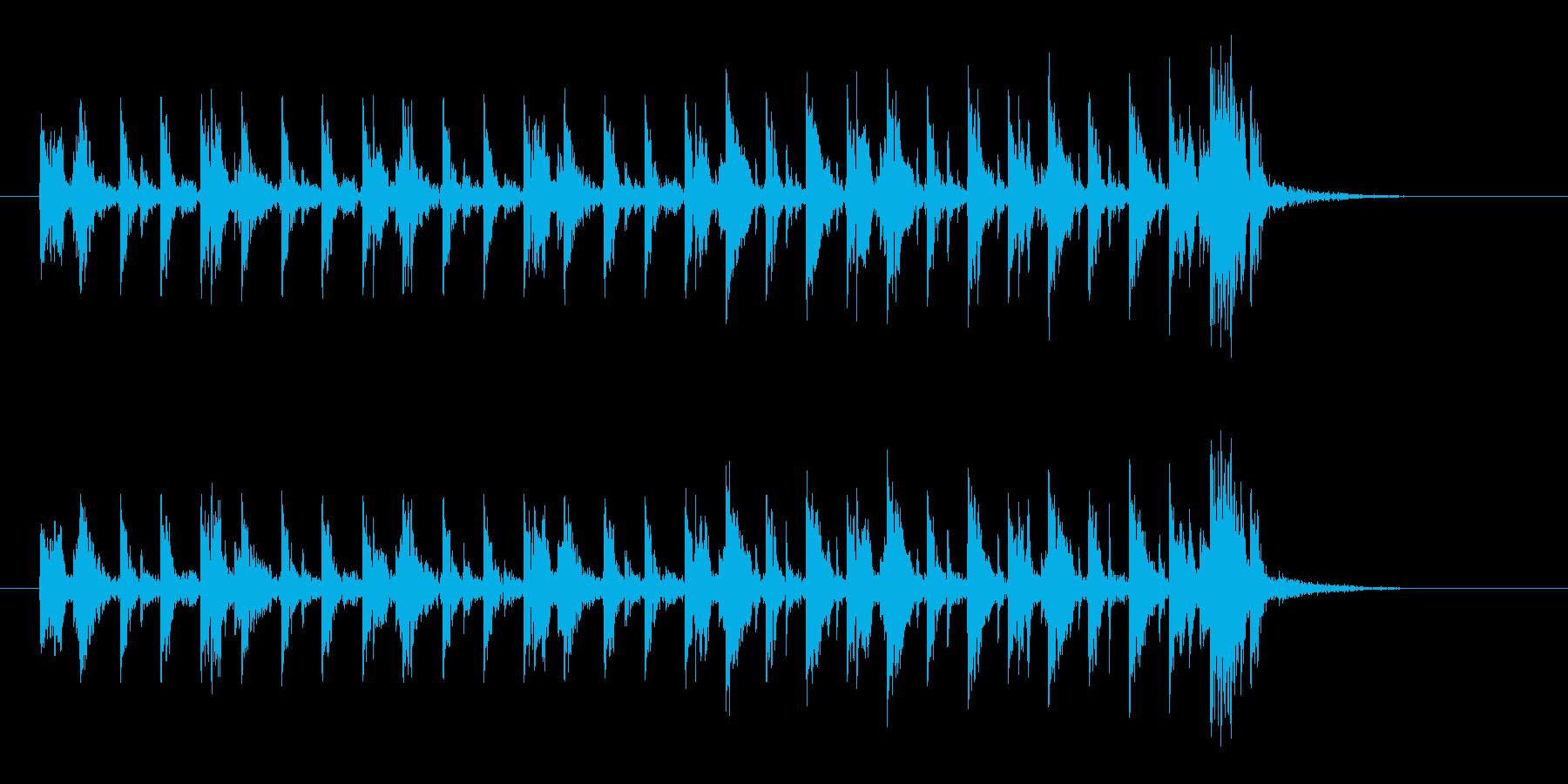 アップテンポな不思議な音楽の再生済みの波形