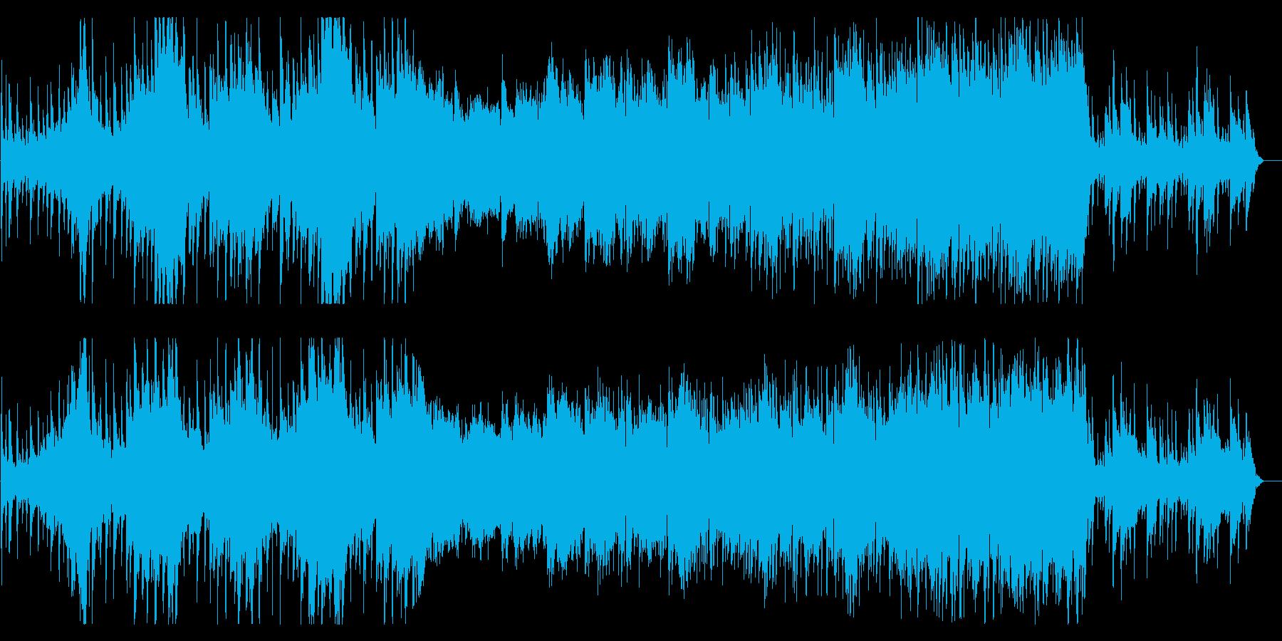 エスニック調の攻撃的雰囲気と浮遊無国籍曲の再生済みの波形